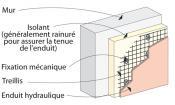 enduit hydraulique sur isolant