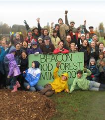 Bénévoles de la Beacon Food Forest