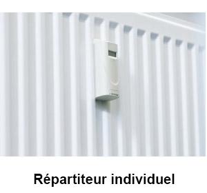 répartiteur de chauffage sur raditateur