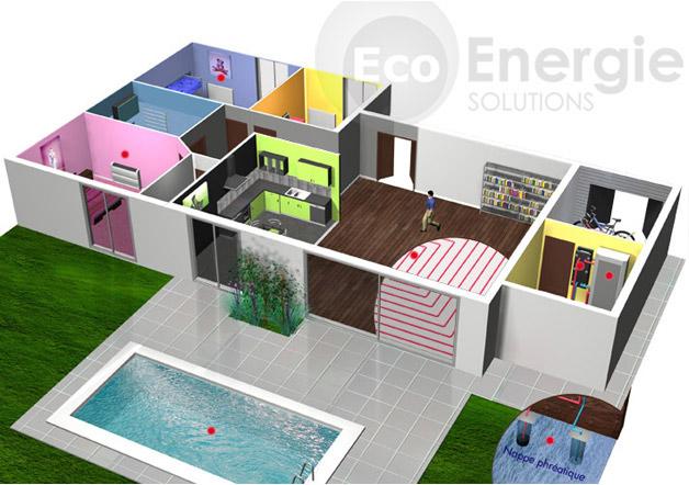 pompe chaleur g othermie eau eau eco energie solutions. Black Bedroom Furniture Sets. Home Design Ideas