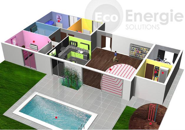 pompe chaleur g othermie sol eau eco energie solutions. Black Bedroom Furniture Sets. Home Design Ideas