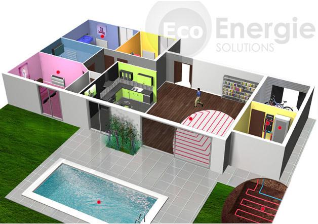 Pompe chaleur g othermie sol eau eco energie solutions - Produire son electricite panneau solaire ...